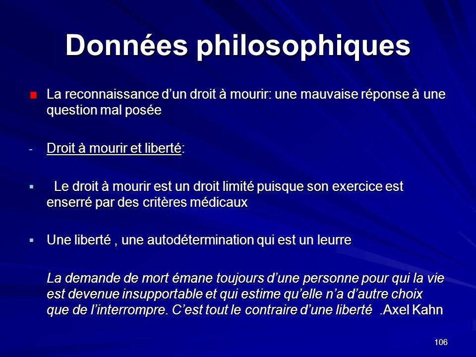 Données philosophiques
