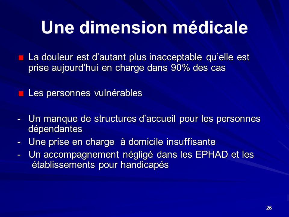 Une dimension médicale