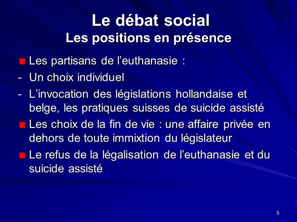 Le débat social Les positions en présence