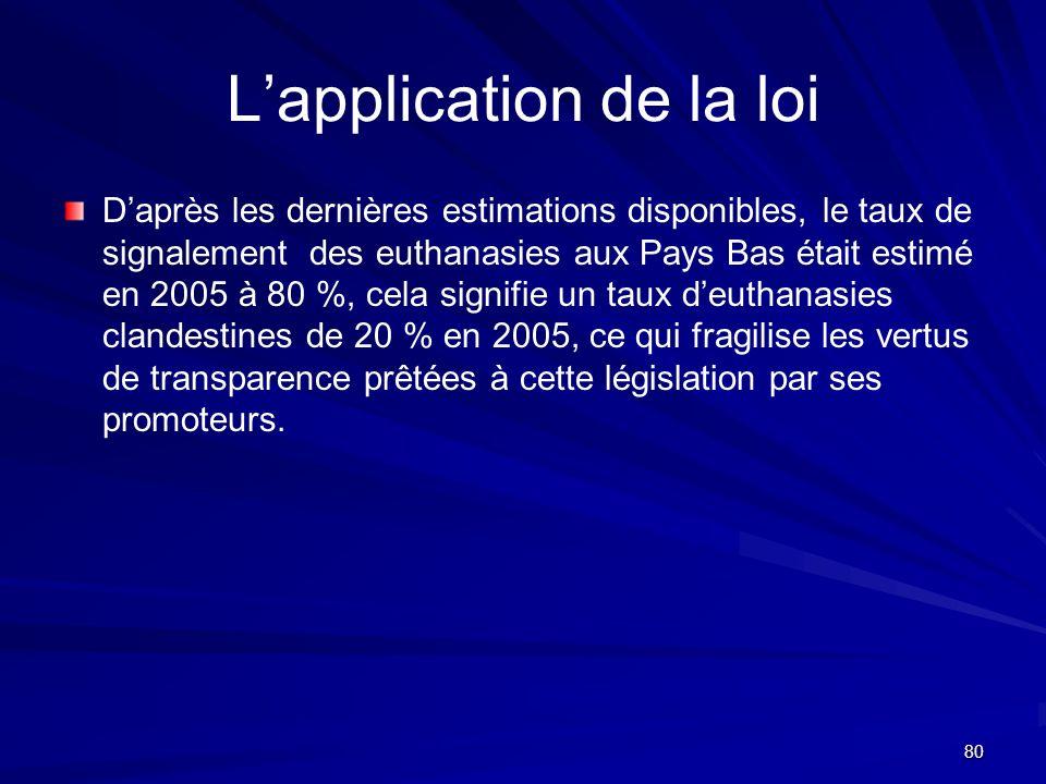 L'application de la loi