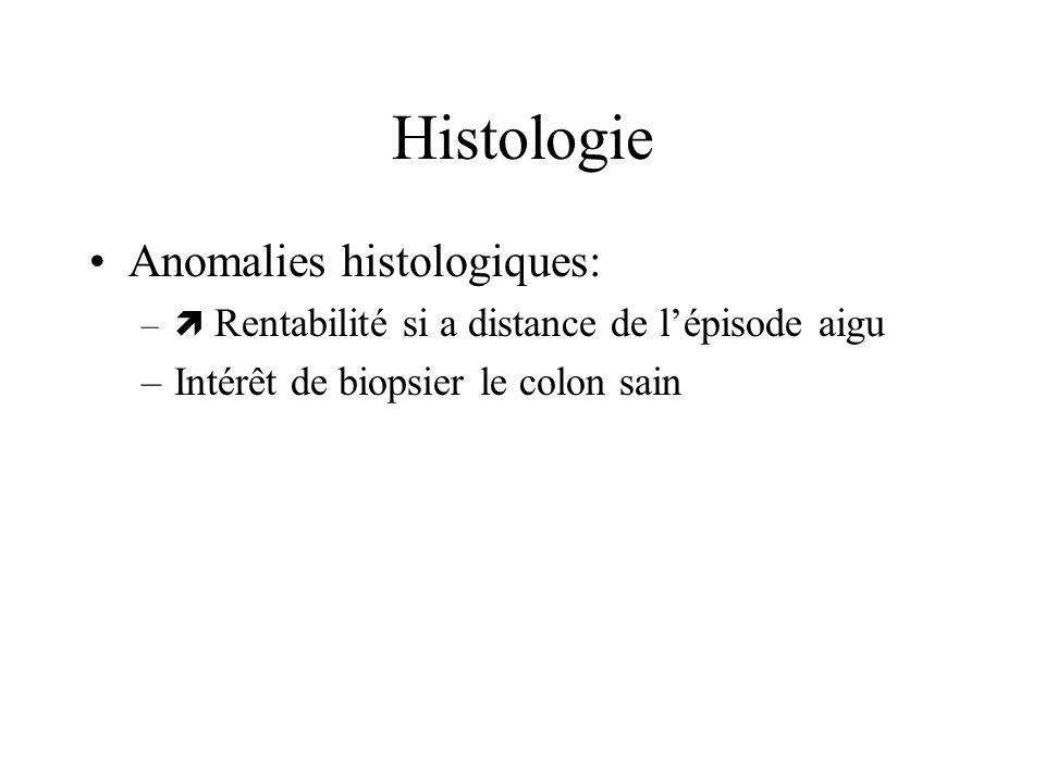 Histologie Anomalies histologiques: Intérêt de biopsier le colon sain
