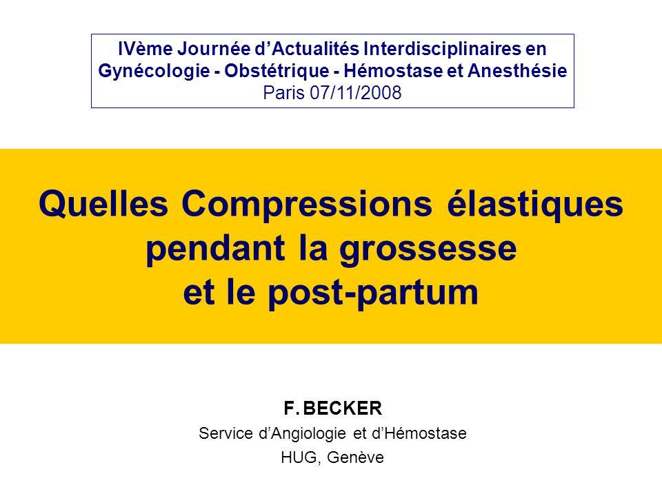 Quelles Compressions élastiques pendant la grossesse et le post-partum