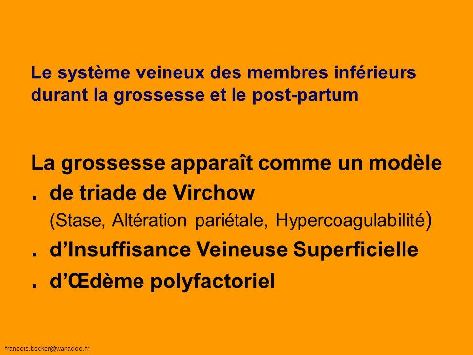 . d'Insuffisance Veineuse Superficielle . d'Œdème polyfactoriel