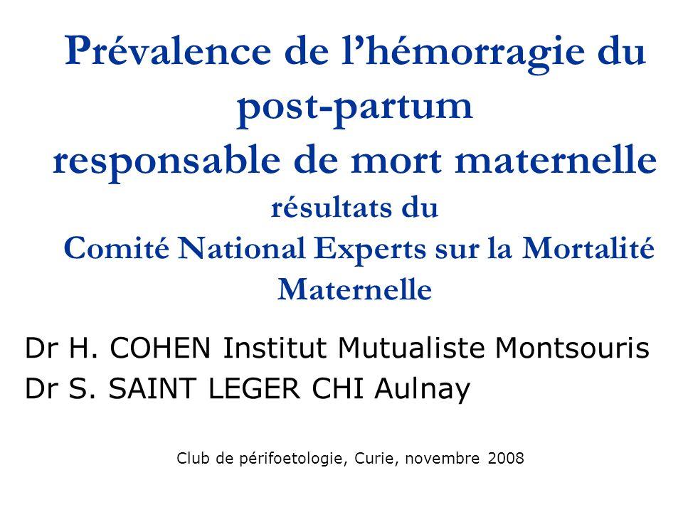 Club de périfoetologie, Curie, novembre 2008