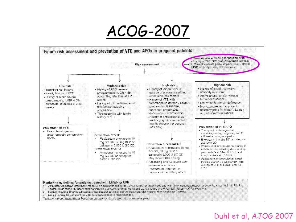 ACOG-2007 Duhl et al, AJOG 2007