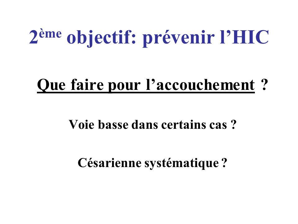 2ème objectif: prévenir l'HIC