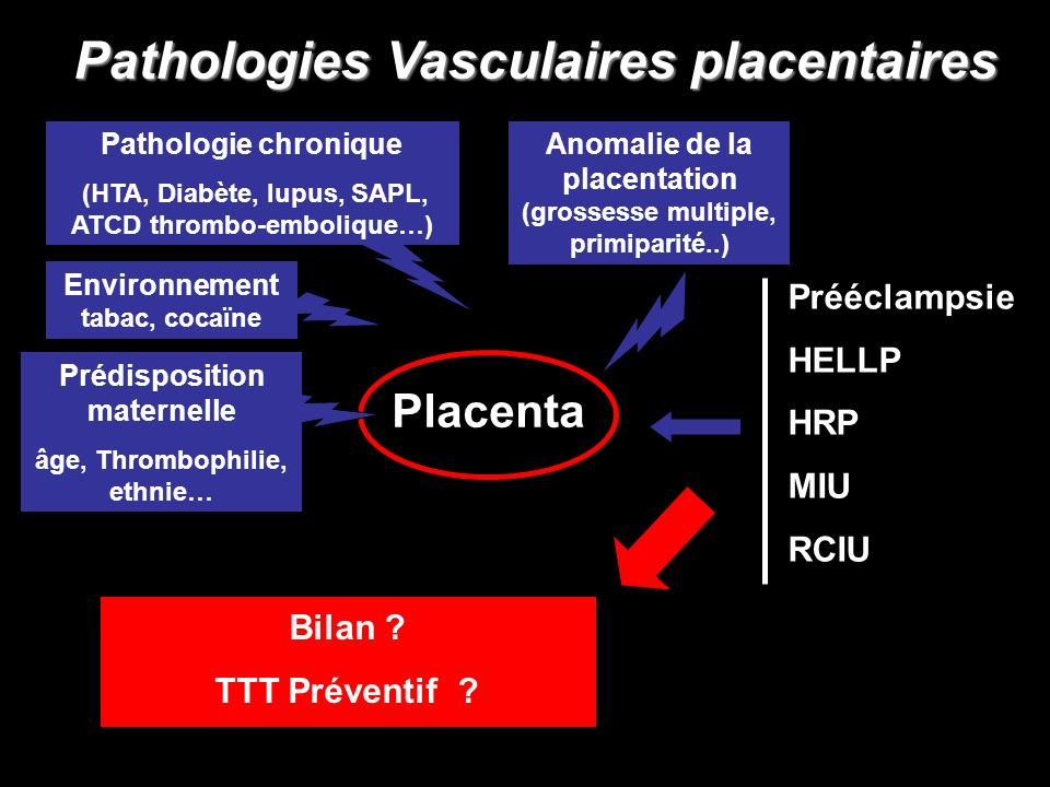 Pathologies Vasculaires placentaires