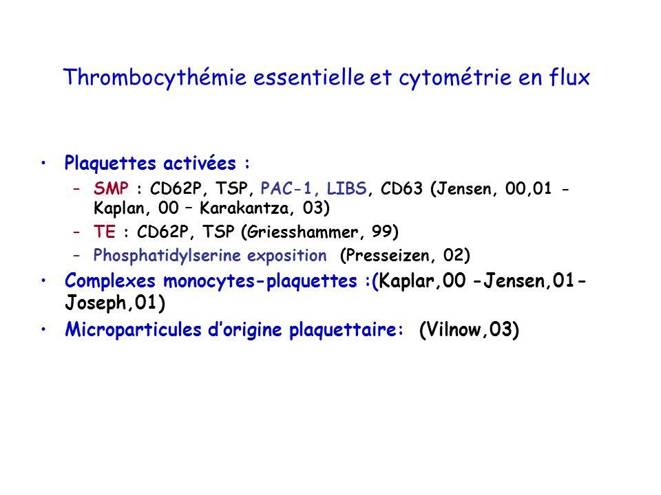 Thrombocythémie essentielle et cytométrie en flux