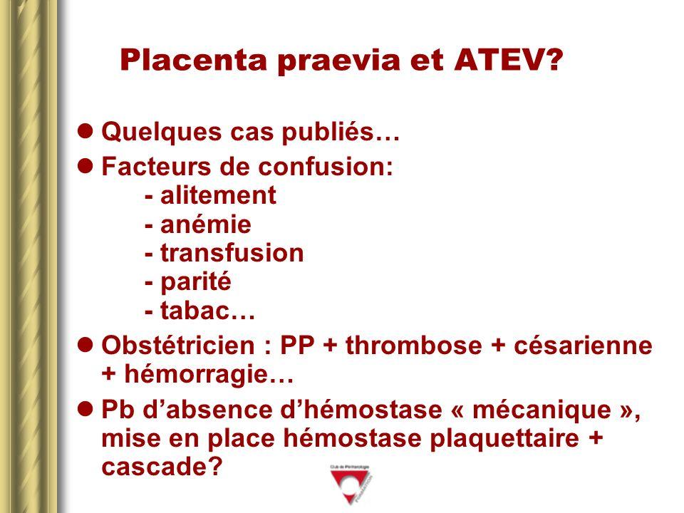 Placenta praevia et ATEV