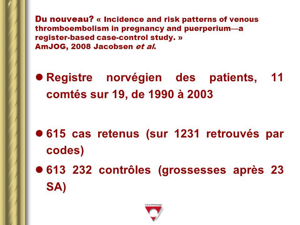 Registre norvégien des patients, 11 comtés sur 19, de 1990 à 2003