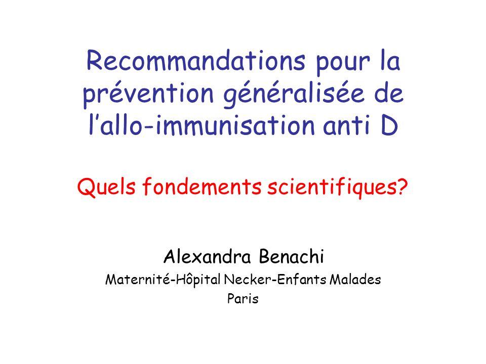 Alexandra Benachi Maternité-Hôpital Necker-Enfants Malades Paris