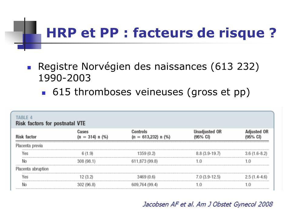 HRP et PP : facteurs de risque