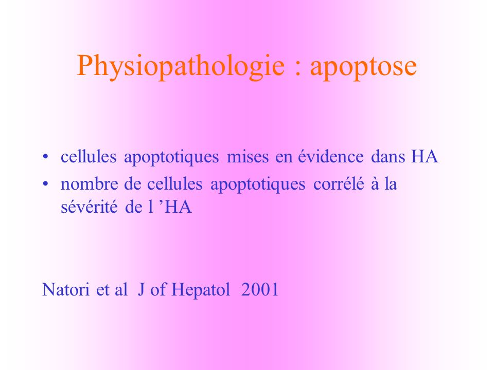 Physiopathologie : apoptose