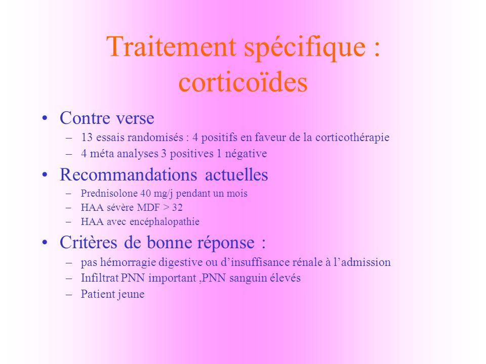 Traitement spécifique : corticoïdes