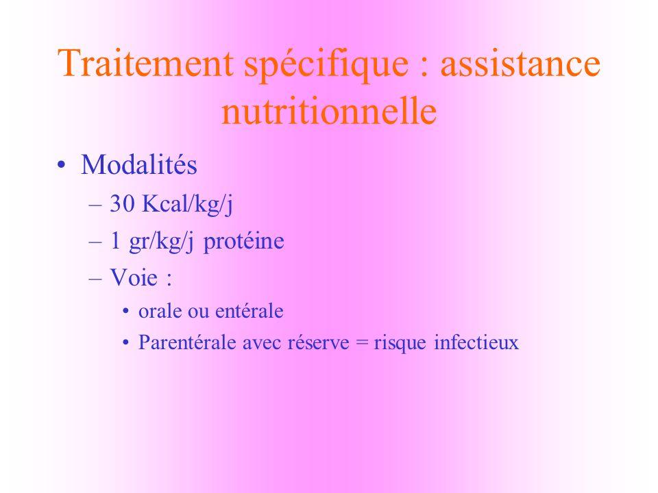 Traitement spécifique : assistance nutritionnelle