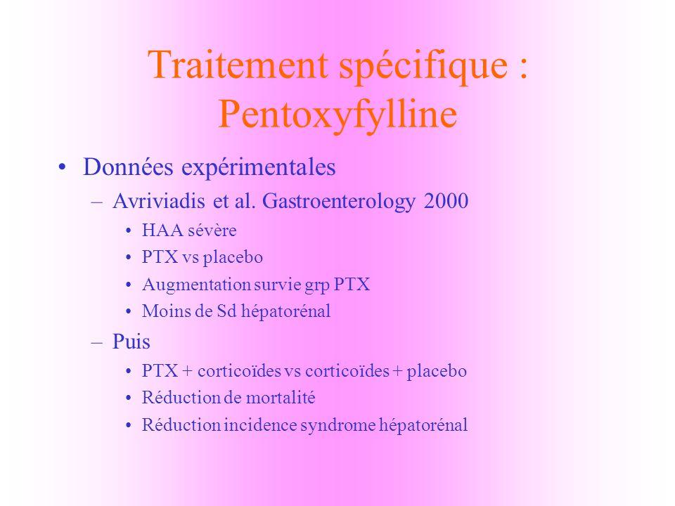 Traitement spécifique : Pentoxyfylline