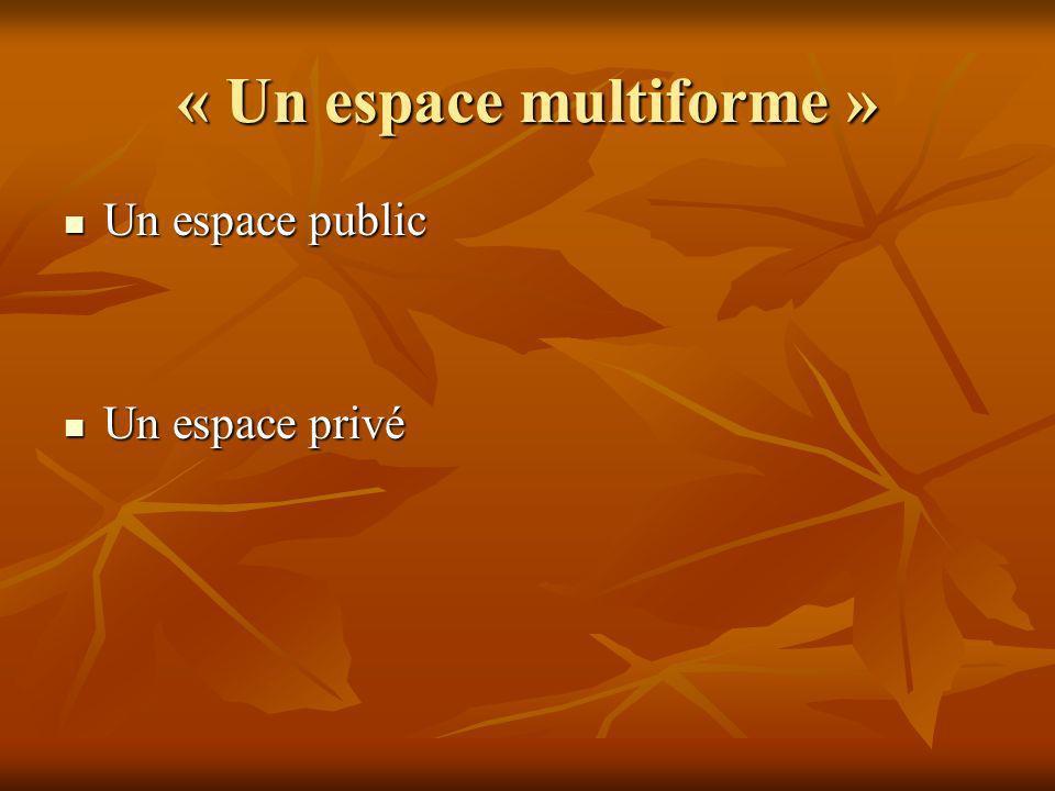 « Un espace multiforme »