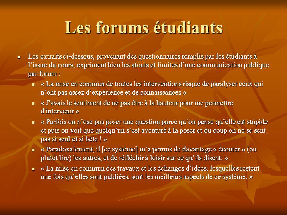 Les forums étudiants