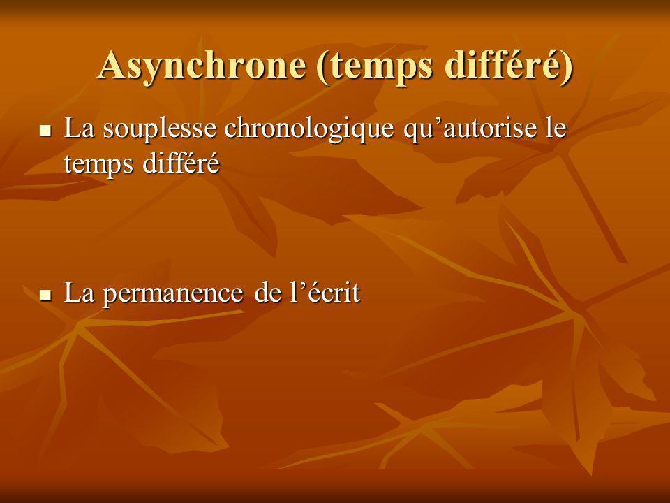 Asynchrone (temps différé)