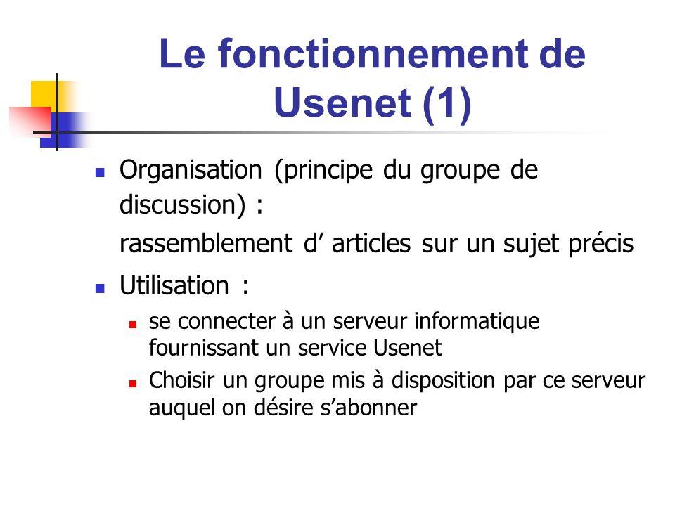 Le fonctionnement de Usenet (1)