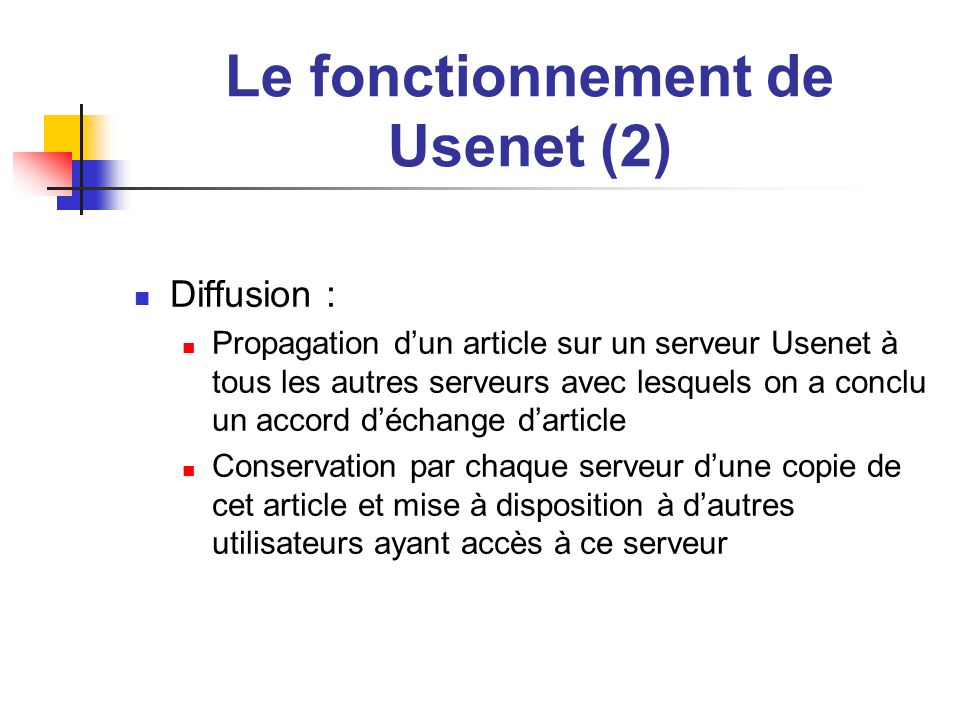 Le fonctionnement de Usenet (2)