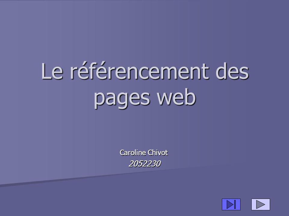 Le référencement des pages web