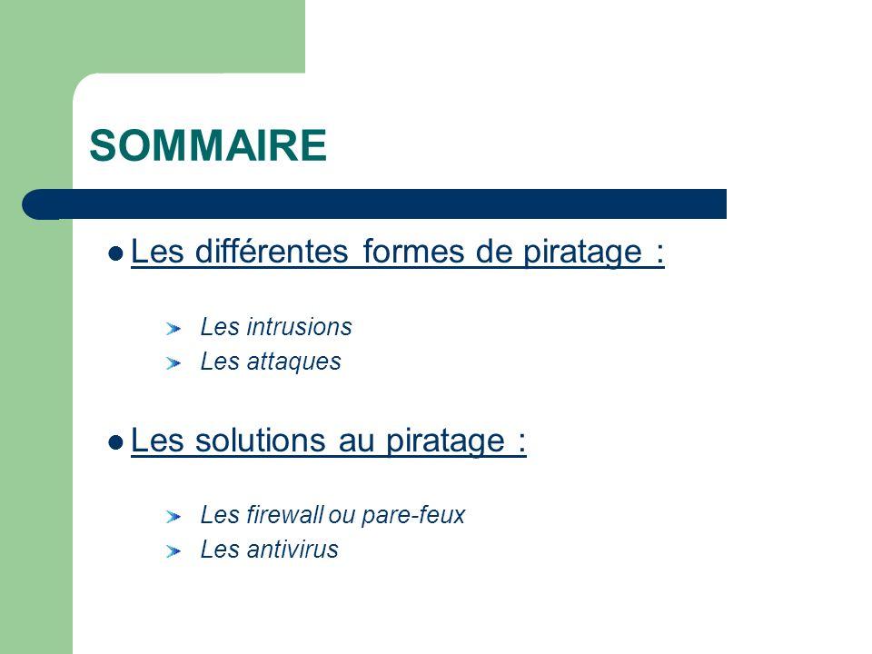 SOMMAIRE Les différentes formes de piratage :