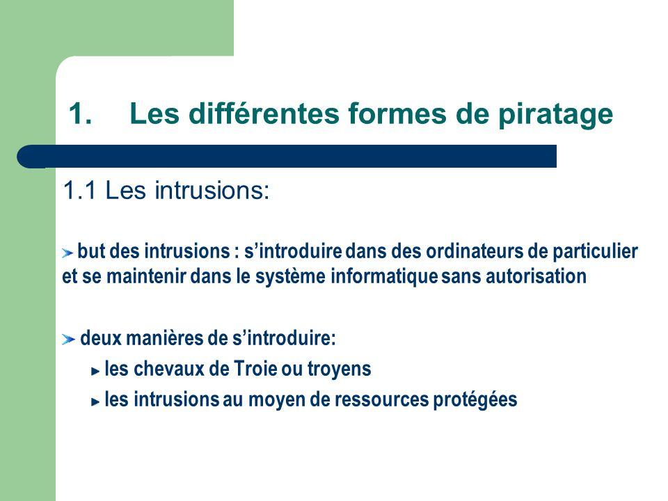 Les différentes formes de piratage