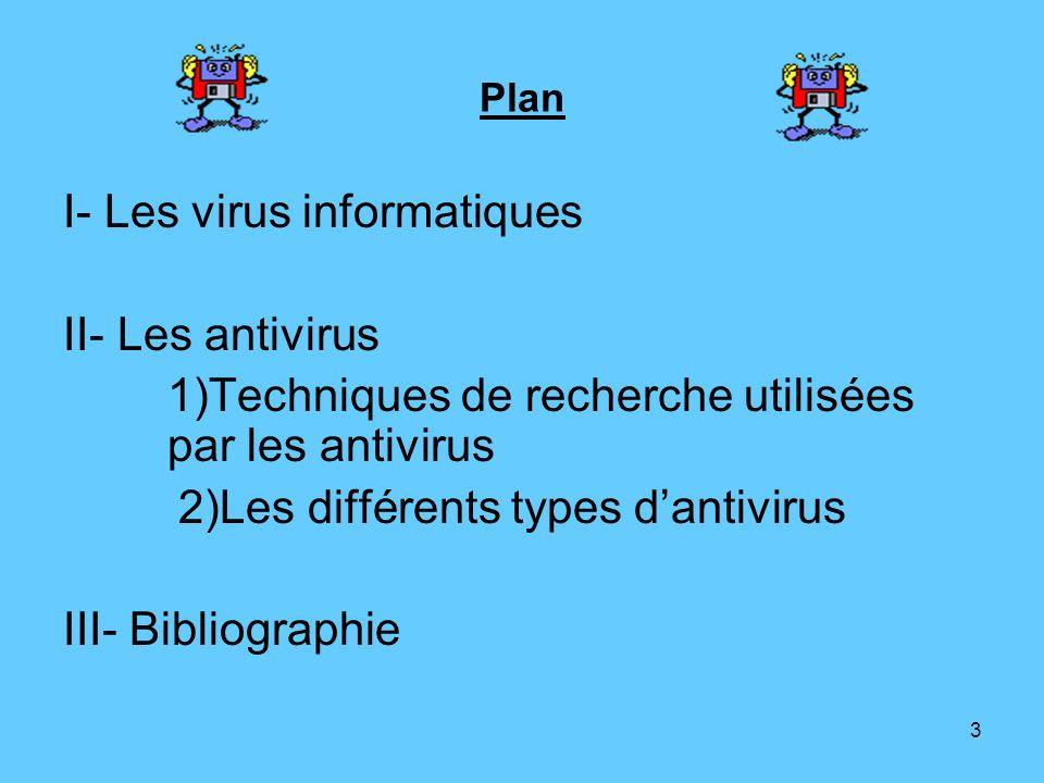 I- Les virus informatiques II- Les antivirus