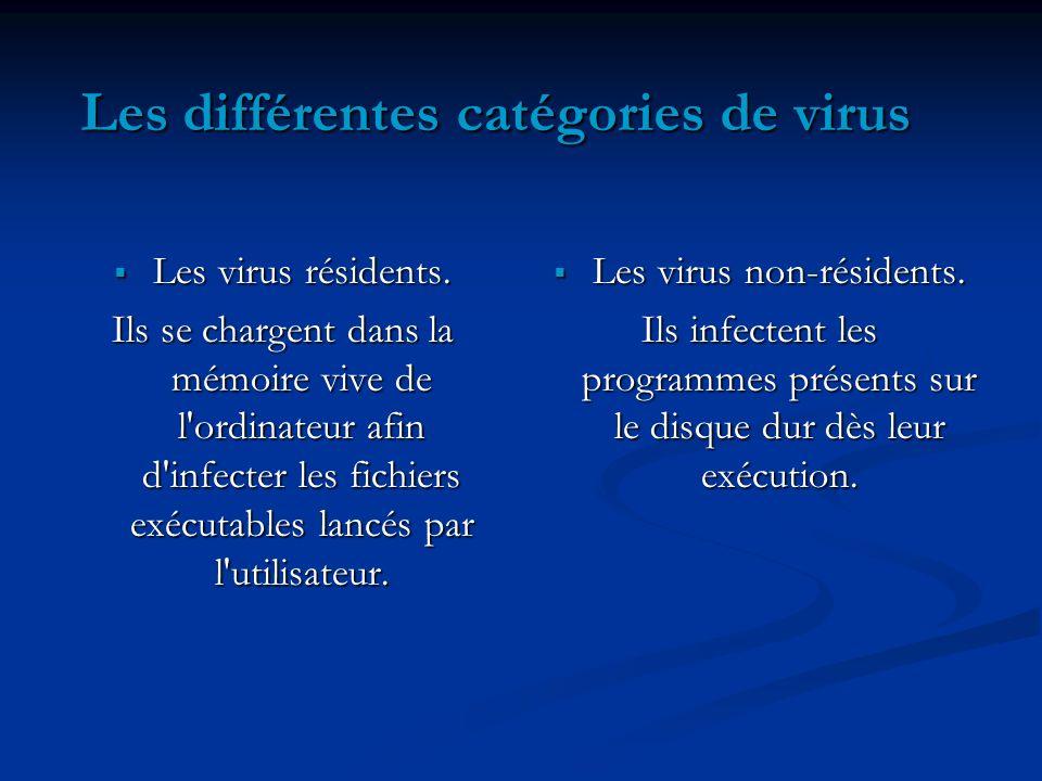 Les différentes catégories de virus