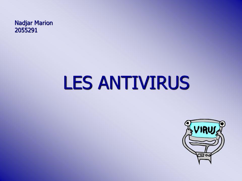 Nadjar Marion 2055291 LES ANTIVIRUS