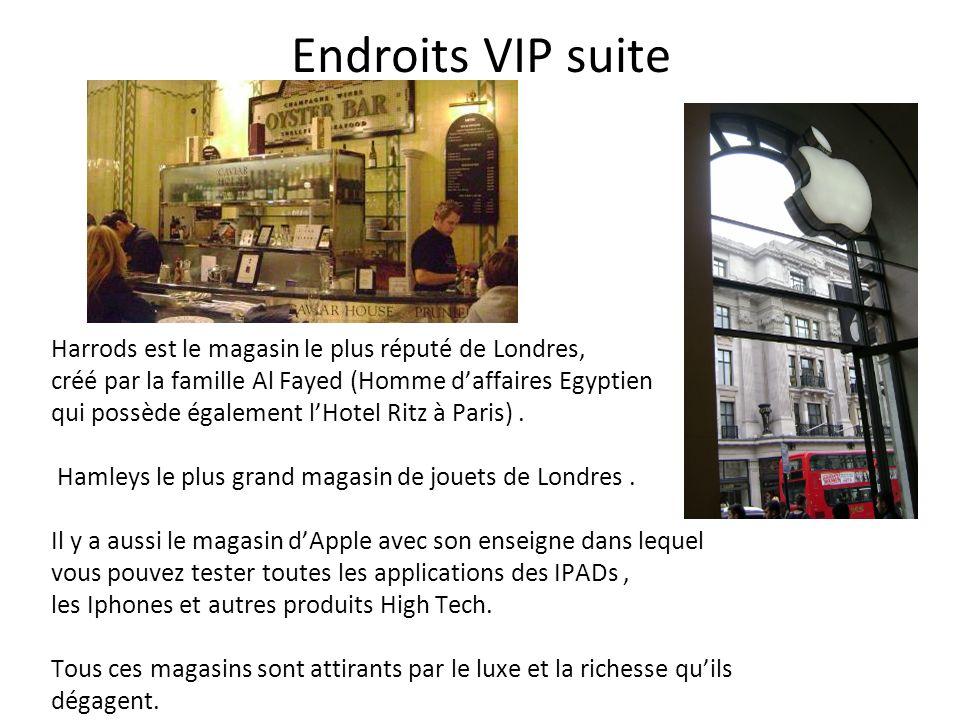 Endroits VIP suite Harrods est le magasin le plus réputé de Londres,