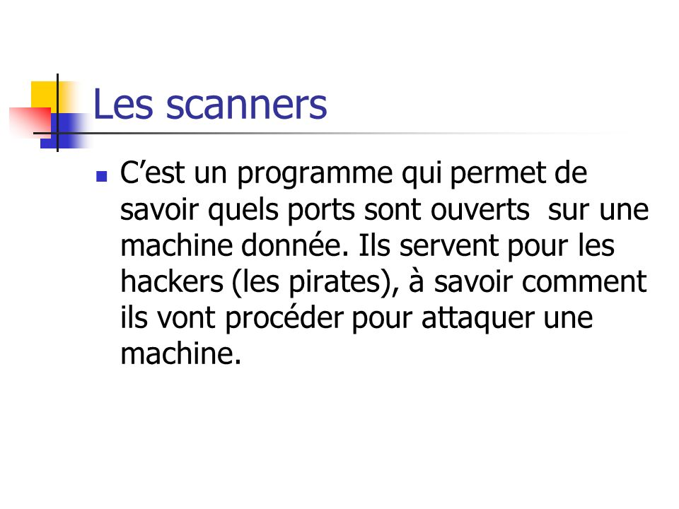 Les scanners