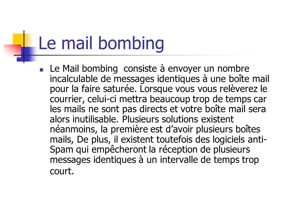 Le mail bombing