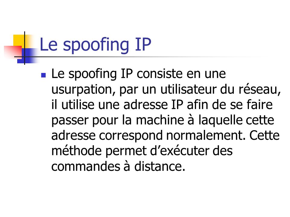 Le spoofing IP
