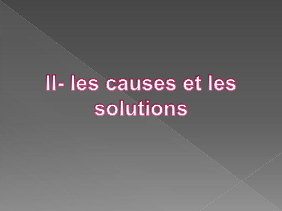 II- les causes et les solutions