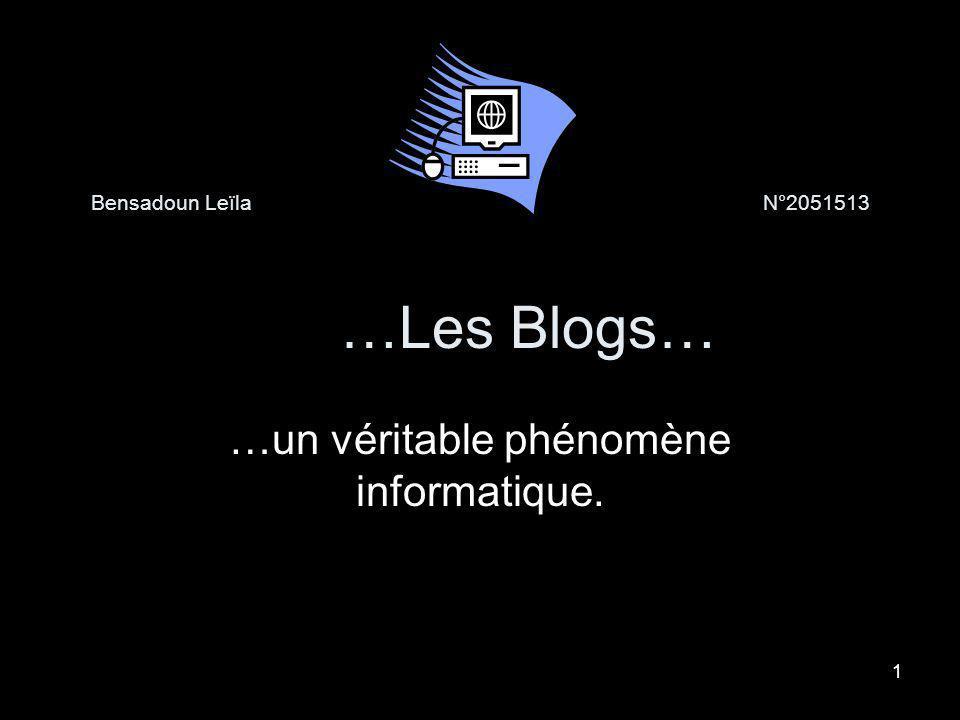 Bensadoun Leïla N°2051513 …Les Blogs…