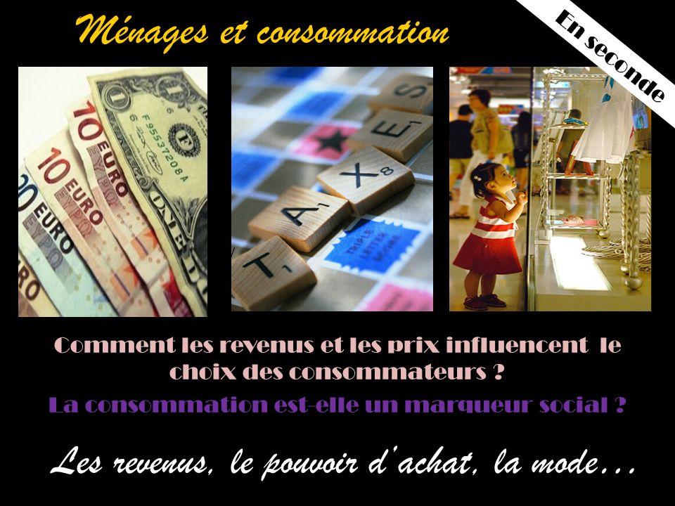 Ménages et consommation