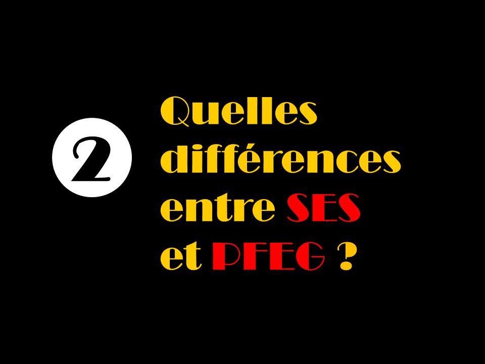 Quelles différences entre SES et PFEG