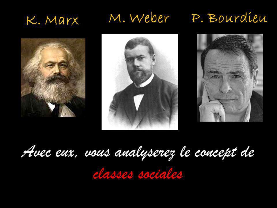 Avec eux, vous analyserez le concept de classes sociales