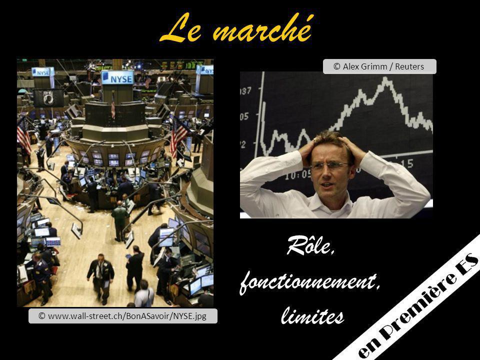Le marché Rôle, fonctionnement, limites © Alex Grimm / Reuters