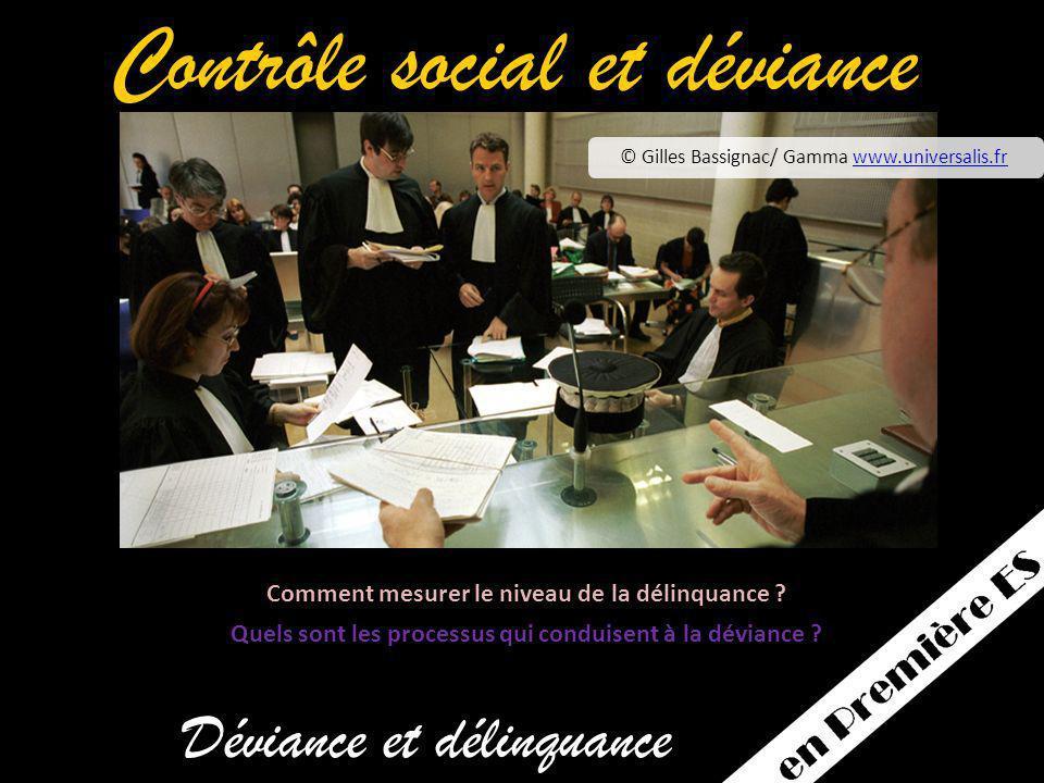Contrôle social et déviance