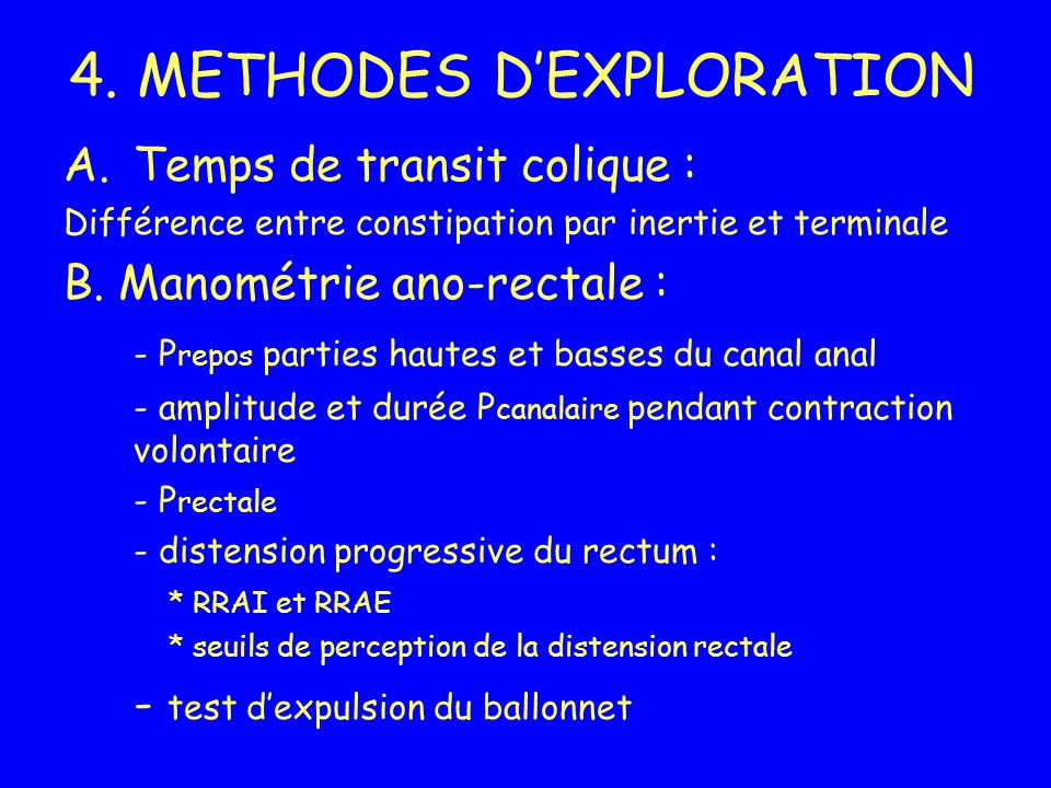 4. METHODES D'EXPLORATION