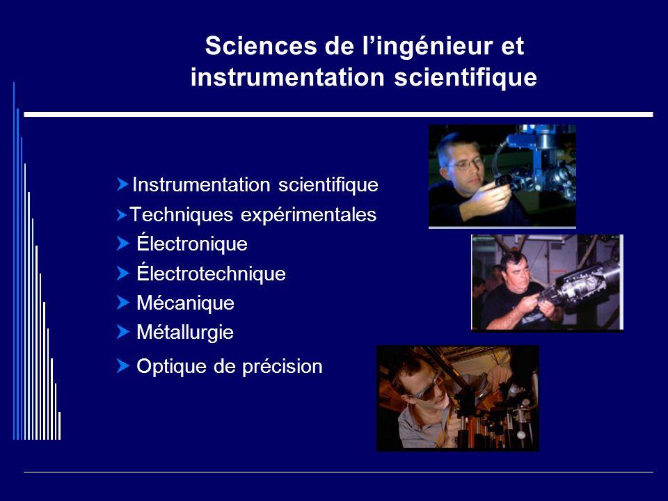 Sciences de l'ingénieur et instrumentation scientifique