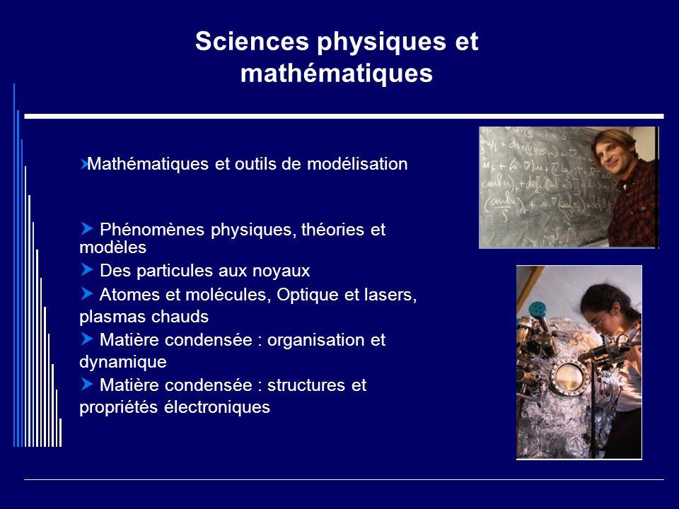Sciences physiques et mathématiques