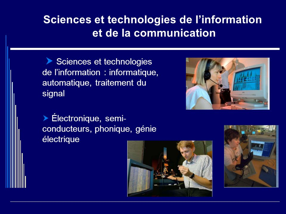 Sciences et technologies de l'information et de la communication