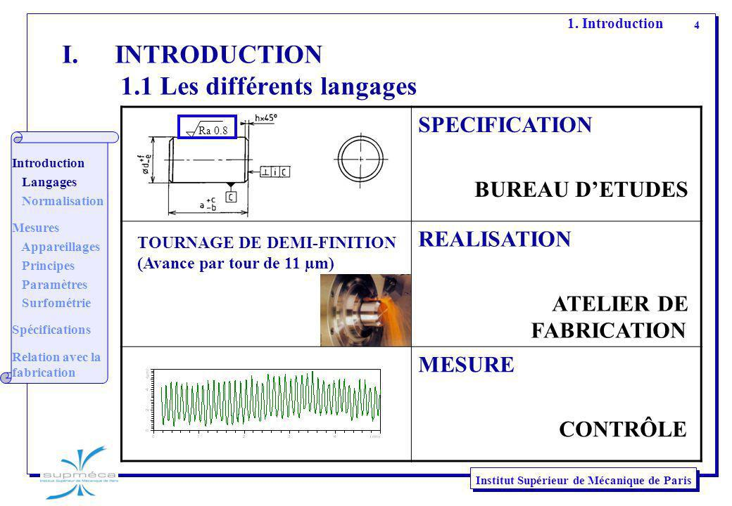 INTRODUCTION 1.1 Les différents langages