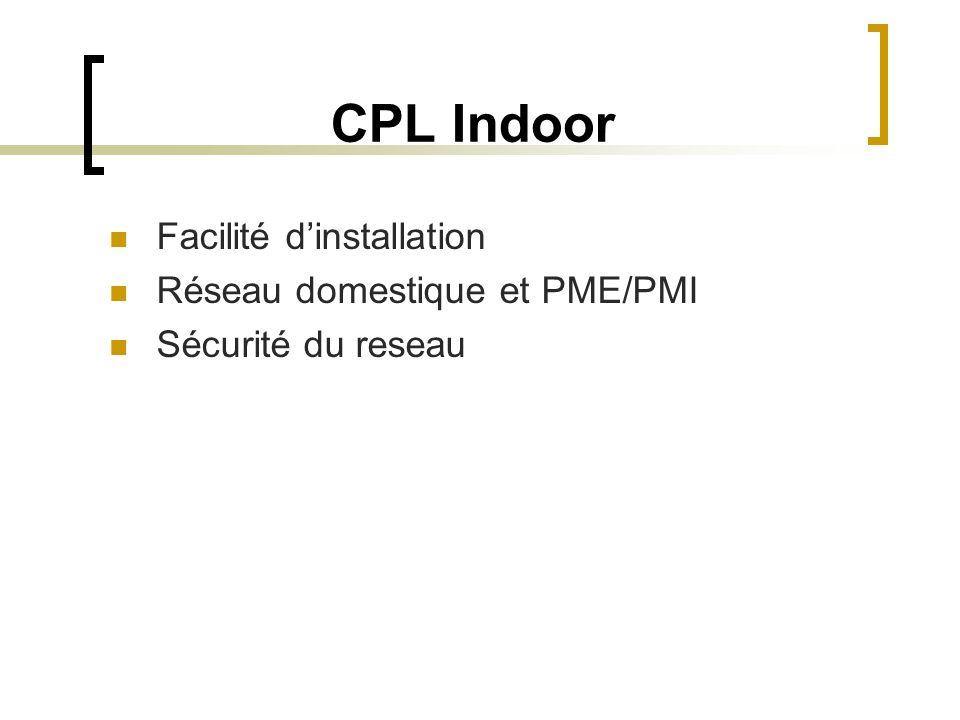 CPL Indoor Facilité d'installation Réseau domestique et PME/PMI