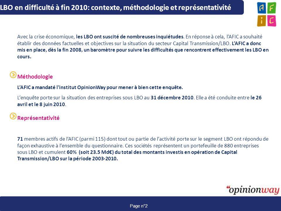 LBO en difficulté à fin 2010: contexte, méthodologie et représentativité