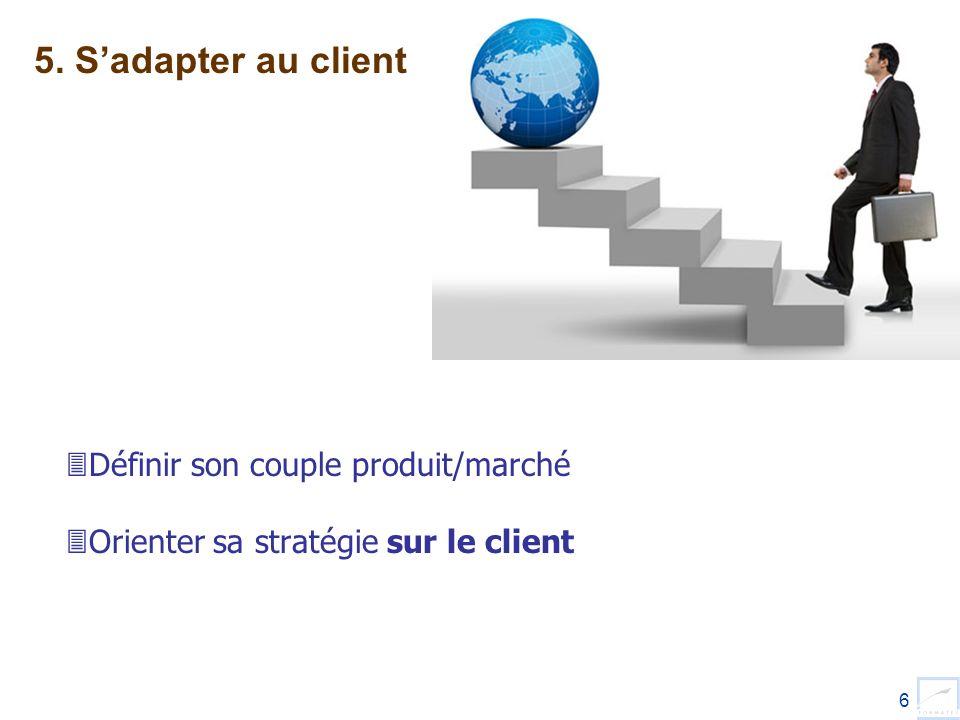 5. S'adapter au client Définir son couple produit/marché